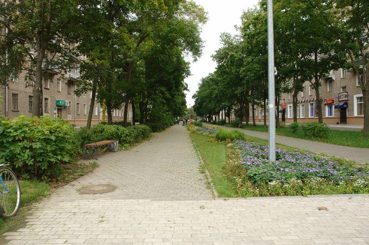 Дубна улица Центральная,сквер.Место свиданий и прогулок.Воспоминание о первой любви.