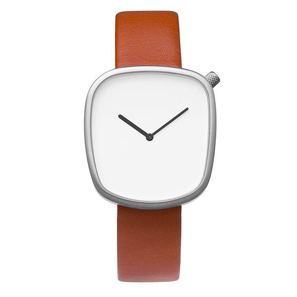 Bulbul Pebble 03 Matt Steel/Brown | Clockwize Watch Shop