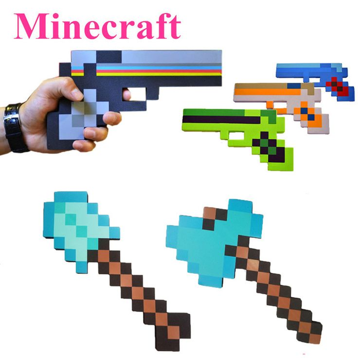 New Minecraft Toys Minecraft Foam Sword Pickax Gun EVA Toys Minecraft Foam Diamond Weapons Model Toys Brinquedos for Kids Gifts-in Action & Toy Figures from Toys & Hobbies on Aliexpress.com   Alibaba Group