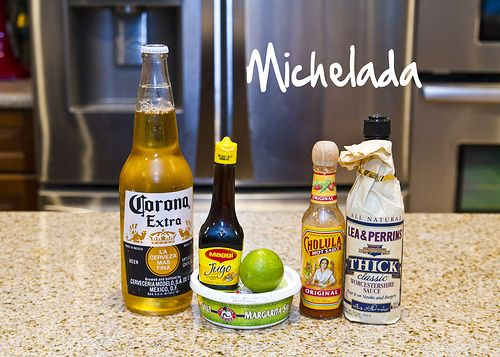 Michelada (spicy beer mixed drink)