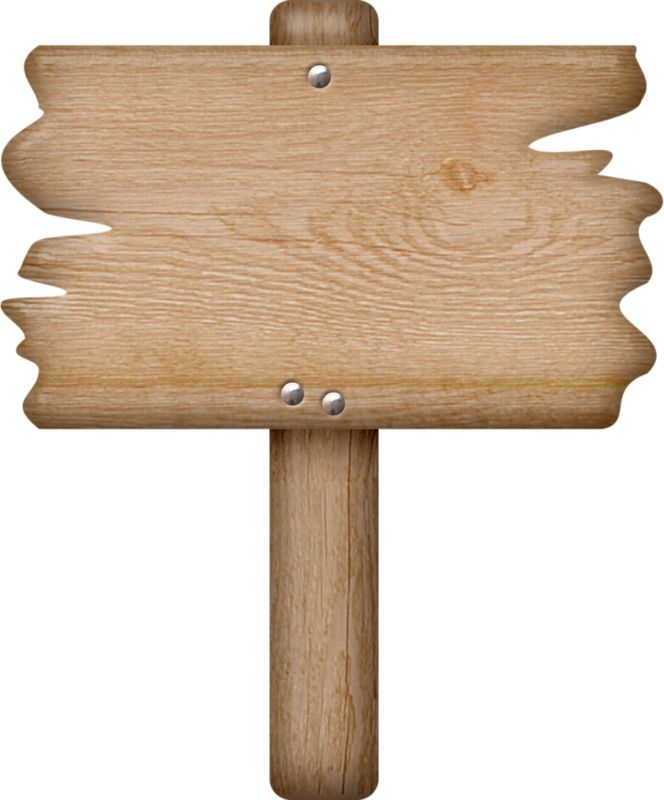 WOODEN SIGN *