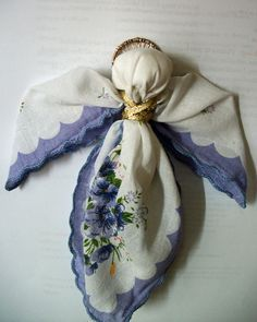 how to make an angel from vintage hankie - Google Search