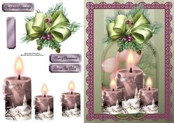 Beautiful Lilac Church Candles on Craftsuprint - View Now!