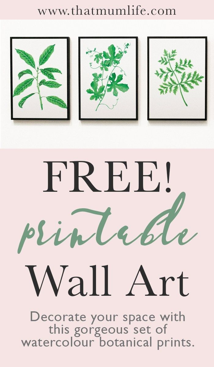 Free Printable Wall Art Watercolor Botanicals Printable Wall