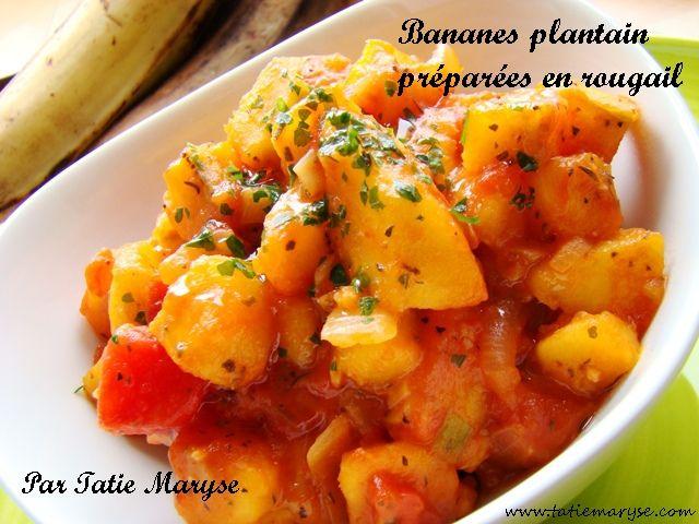 Le rougail bananes plantain c'est une inspiration du fameux rougail de la Réunion mis au goût de Tatie Maryse. Une recette culte du blog!