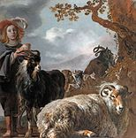 Bartholomeus van der Helst - Shepherds boy with sheep and goats, by Jan Baptist Weenix and Bartholomeus van der Helst