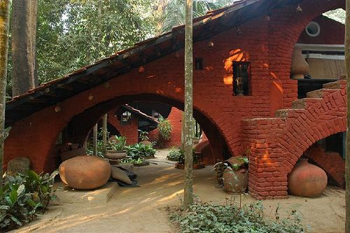Nari Gandhi Bungalow at Revdanda by Pranav2005, via Flickr #architecture #design #brick #stone #love