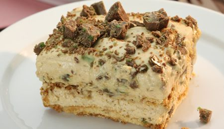 Peppermint Crisp Tart: another version of South Africa's favourite fridge tart, from Pick n Pay