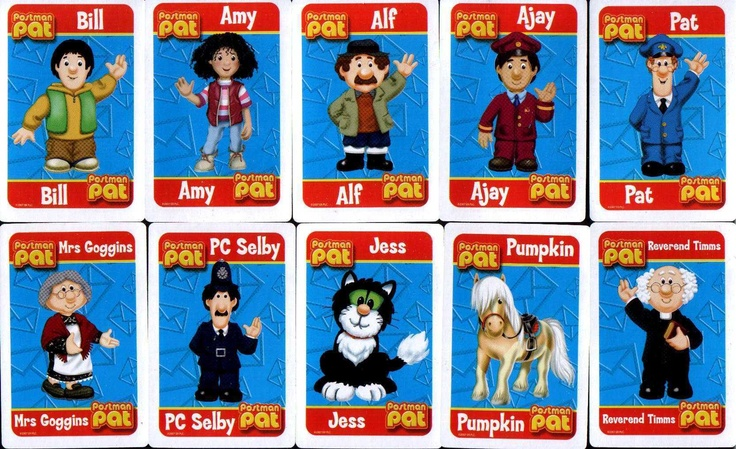 POSTMAN PAT Snap Card Game With New Characters New