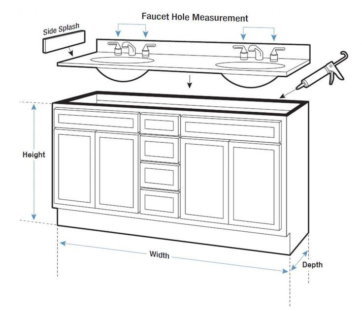 10+ Bathroom vanity height and depth info