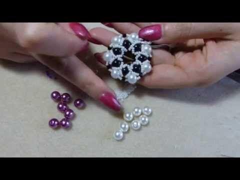Diy tutorial ciondolo con perle e perline 1 come fare gioielli fai da te beadwork - YouTube