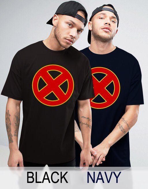 Black+Men's+Tshirt+X-men+Inspired+Logo+Black+Shirt+For+Men