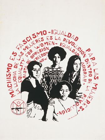 Machismo Es Fascismo - Women from the Young Lords / Juan Carlos / Silkscreen, 1970 New York, New York
