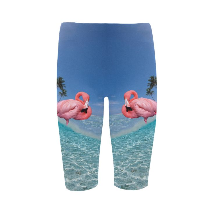 Flamingo and Palms Cropped Leggings