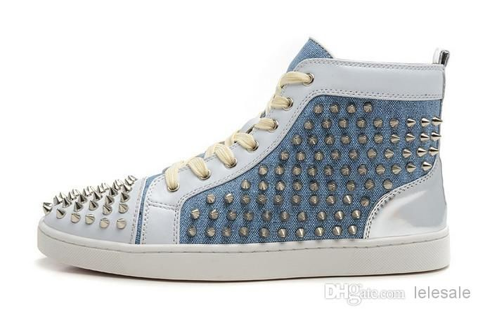 Cheap High Top Sneakers - Best New 2014 Men And Women Blue Denim Canvas Online with $87.84/Pair | DHgate