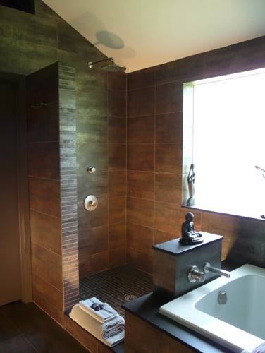 Open Showers Shower Designs And Contemporary Bathrooms On Pinterest