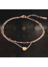 Layered Heart Shape Gold Metal Anklet on sale only US$7.33 now, buy cheap Layered Heart Shape Gold Metal Anklet at liligal.com