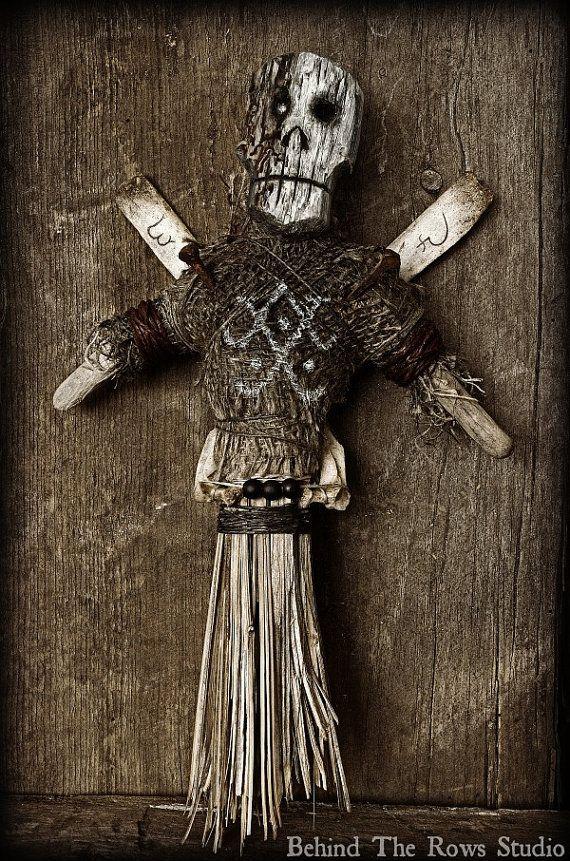 Voodoo Doll Folk Art by BehindTheRowsStudio on Etsy, $210.00