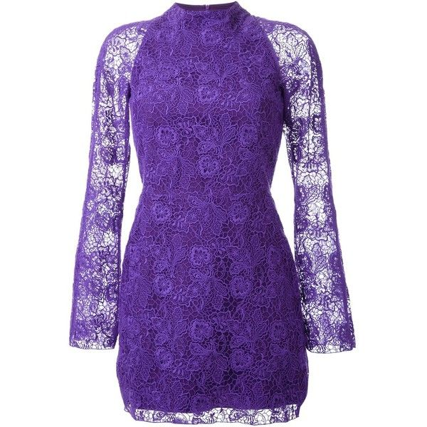 Manning Cartell Tea Party Mini Dress ($572) ❤ liked on Polyvore featuring dresses, manning cartell dress, tea party dresses, purple dress, short dresses and cotton dress