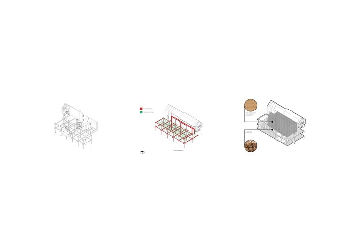 Axonometric, Architecture, Breakdown, Adapt and Extend, BIG Architects, Bjarke Ingels style, Structural heirachy