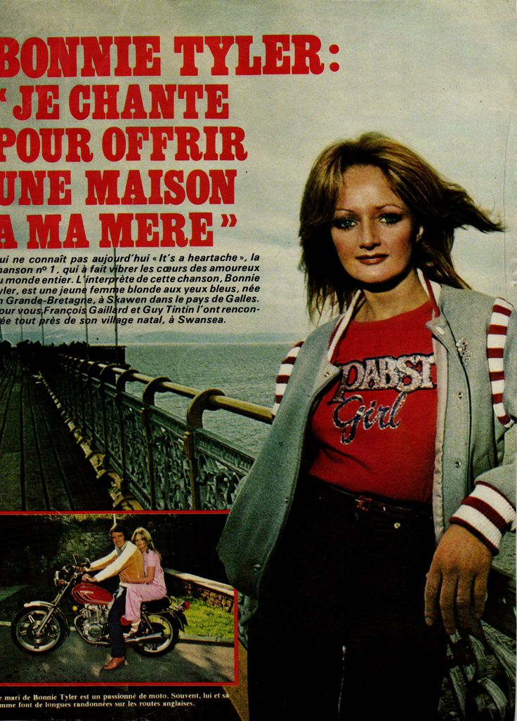 #bonnietyler #press #FrenchMag #music #young #gaynorhopkins  www.the-queen-bonnie-tyler.com