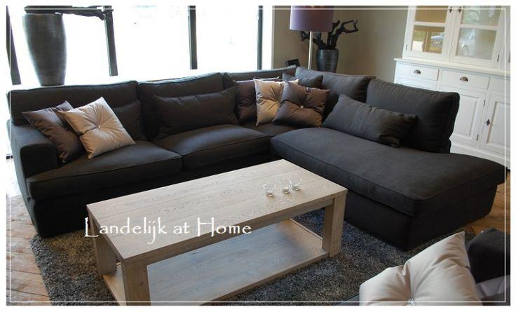 Royale landelijke hoekbank verschillende stoffen palermo banken en fauteuils - Sofa landelijke stijl stijlvol ...