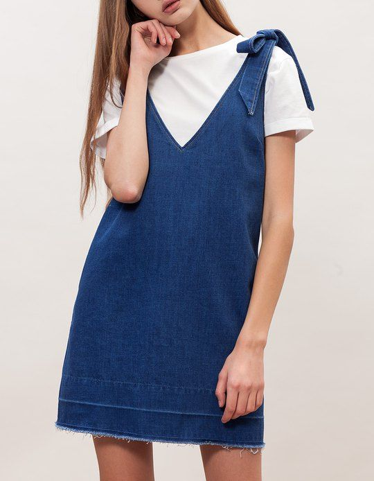 At Stradivarius you'll find 1 Denim dress with tie for woman for just 2995 Ft . Visit now to discover this and more null.