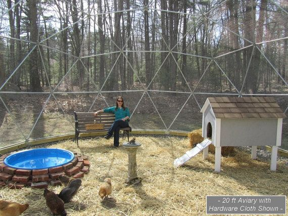 16 ft Geodesic Dome Outdoor Aviary Flight Cage by SunriseDomes