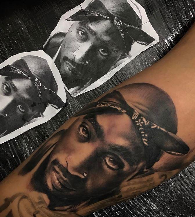 Stunning Tupac Tattoo