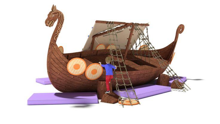 3D model Playground Drakkar