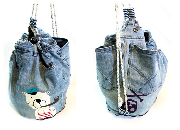 beutel aus alten jeans bag made from old jeans. Black Bedroom Furniture Sets. Home Design Ideas