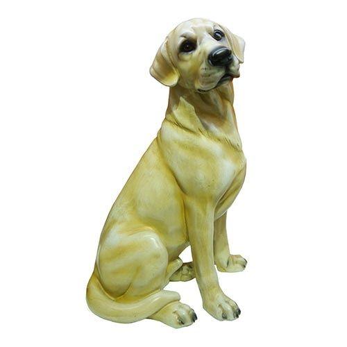 Estatueta de Labrador Amarelo Sentado - 30x19 cm