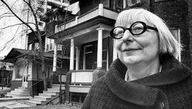 Jane Jacobs had great glasses. She also liked walkable, people-centered cities. Check out a Jane Jacobs Walk near you on the first weekend of May.