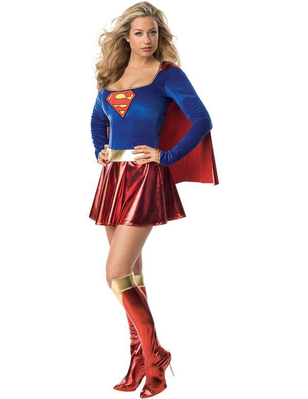 Adult Sexy Supergirl Super Hero Costume
