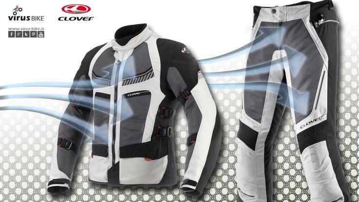 Giacca + pantalone #moto estivi, ventilati, utilizzabile in primavera/estate/autunno, grazie alla membrana interna termica antiacqua, indossabile anche esternamente. www.virus-bike.it