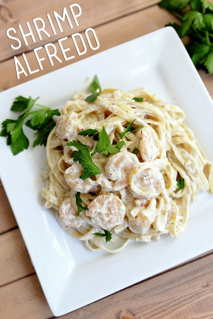 Easy creamy shrimp scampi pasta recipe