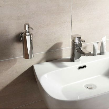 Options Wall Mounted Slim Stainless Steel Soap Pump Dispenser