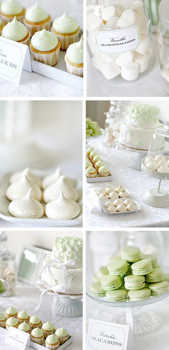 love mint + white, this would make for a precious baby shower