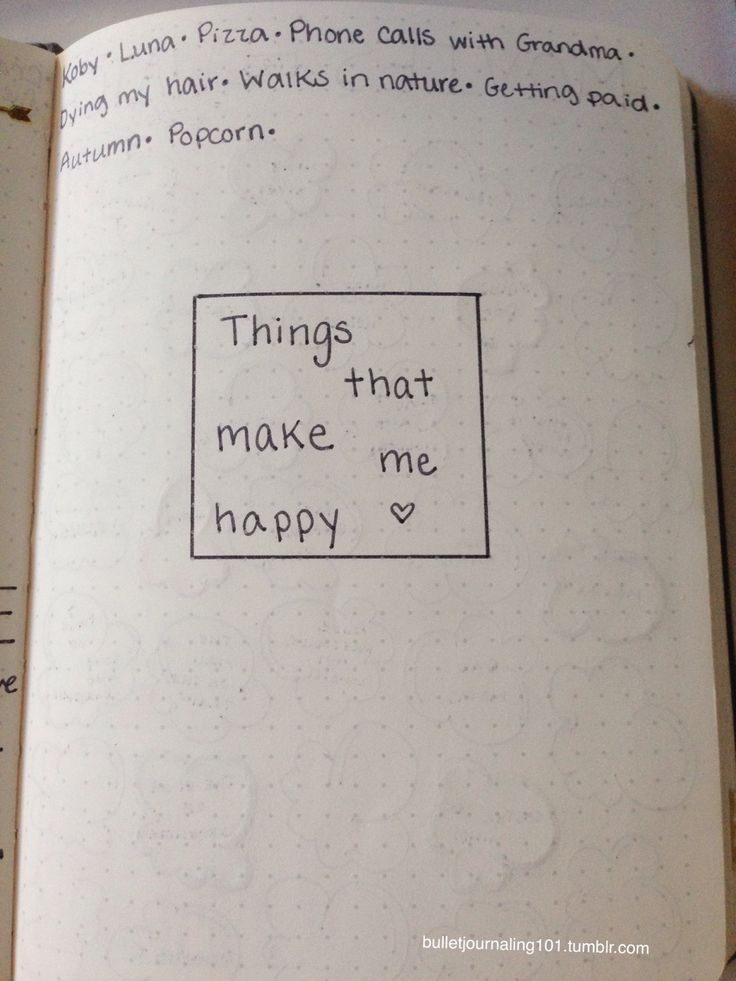 #bulletjournal #journaling #study #organize Happy Lists  Write down things, people, events, songs, movies, anything that makes you happy.