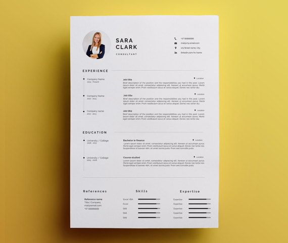 7 best Libra - Resume Template images on Pinterest Career - artsy resume templates