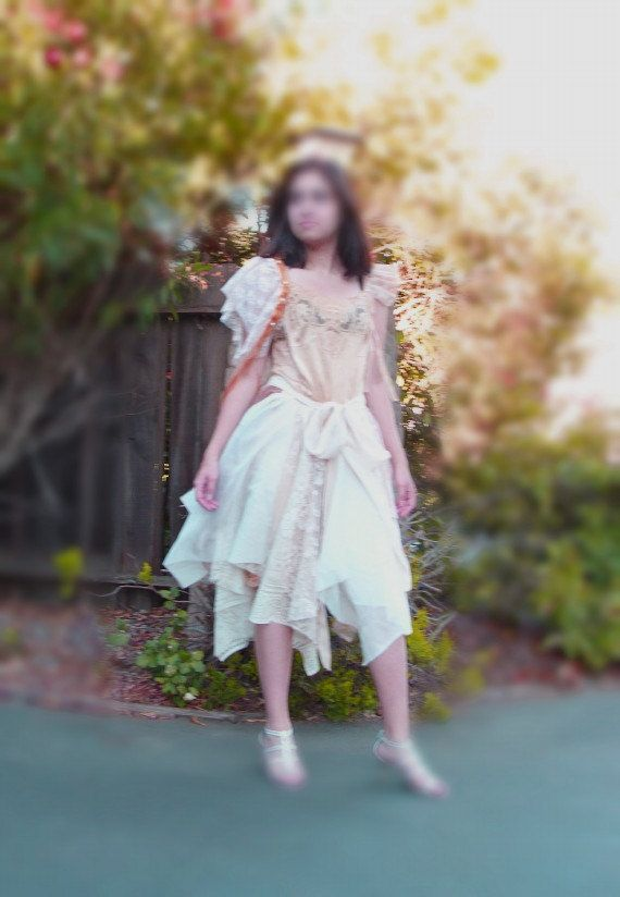 Fairy Tattered  Wedding Dress  Designed and HandMade by KheGreen, $225.00