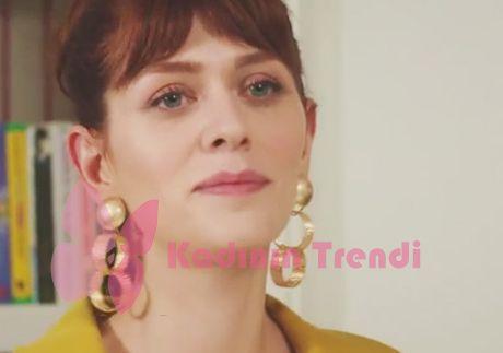 Fazilet Hanım ve Kızları 7. Bölüm Yasemin Sarı halka küpeler Di Fashion Branding