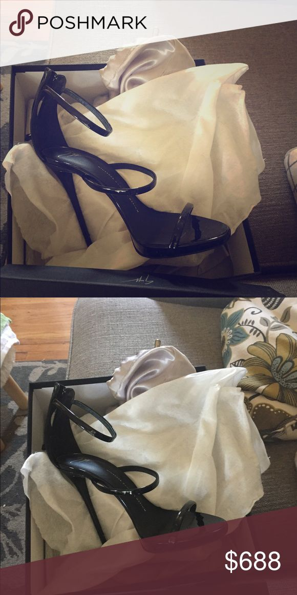 Giuseppe zanotti heels a year old not worn alot Giuseppe zanotti made in italy three strapped high heels . Bought as gift but I don't go out as much -worn five occasions-NO MOVERS FUNDS PLEASE ONLY ACCEPT CASH OR SQUARE CASH APP . Possibly paypal thank you! 🎀 Giuseppe Zanotti Shoes Heels