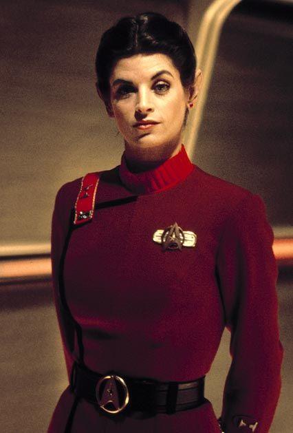 Kirstie Alley as Saavik in Star Trek II