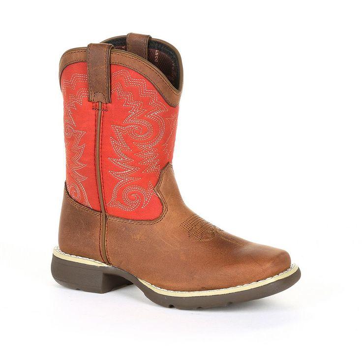 Lil Durango Stockman Kids Western Boots, Kids Unisex, Size: 3.5, Brown