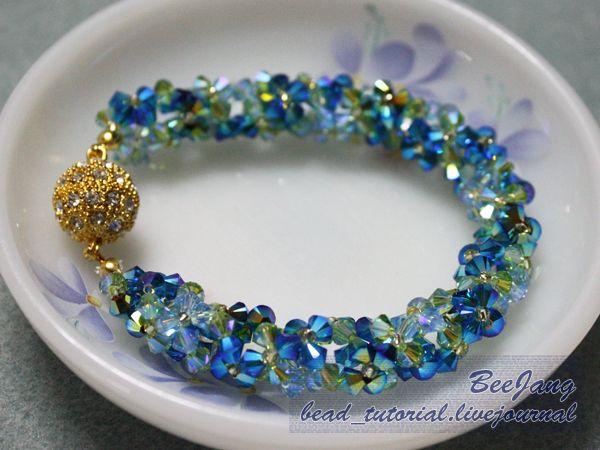 Free bead_tutorial: Flower Spiral #1 Gorgeous!