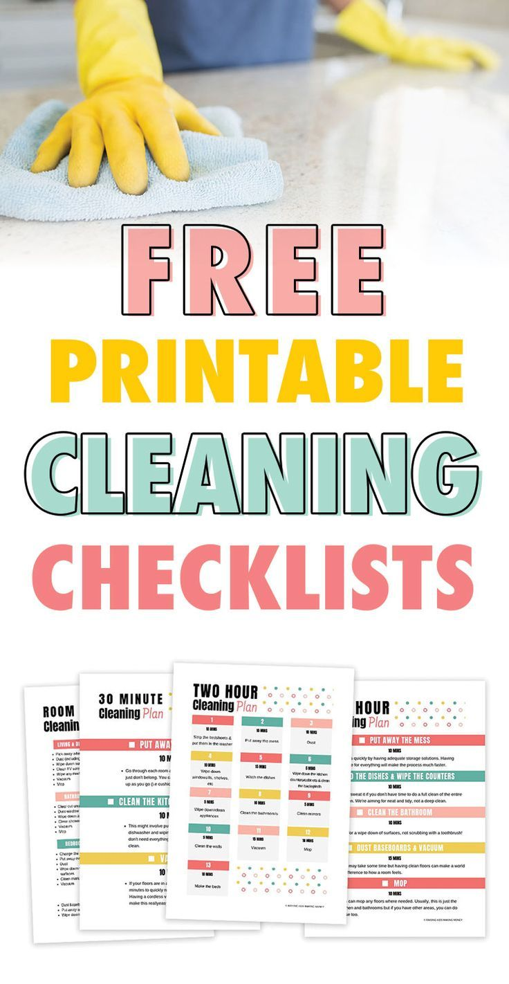 How To Clean Your House Fast Free Checklist Cleaning Checklist Cleaning Checklist Printable Free Cleaning Routine
