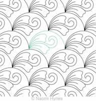 Digital Quilting Design Drifting Clamshells 2 P2P by Naomi Hynes.