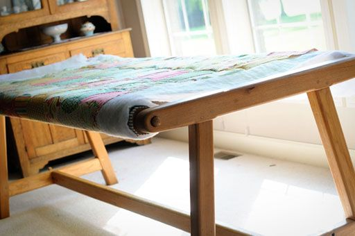 Quilt frames and tables on pinterest for Floor quilt frame