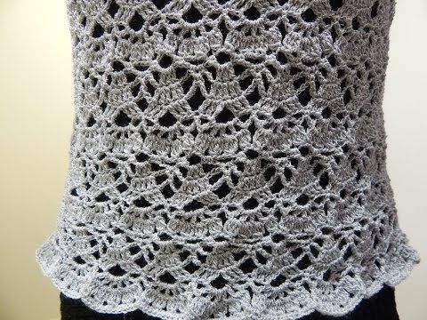 Blusa Gris Crochet parte 2 de 2 - YouTube